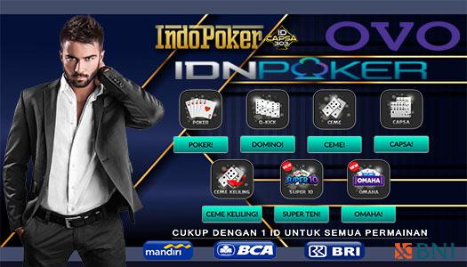 Agen Ceme IDNPlay Deposit Poker 10rb Pakai OVO
