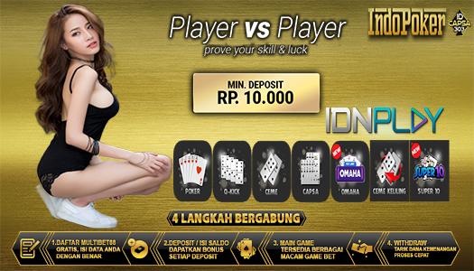 Situs Idnplay Deposit Poker 10 Ribu